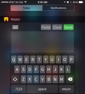 הווידג'ט של Neato