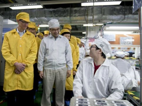 Tim Cook visit supply chain