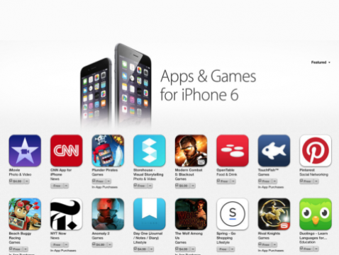 iPhone 6 and Appstore