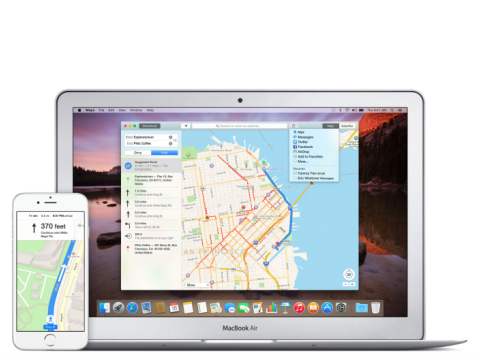 Apple maps iPhone and MBA