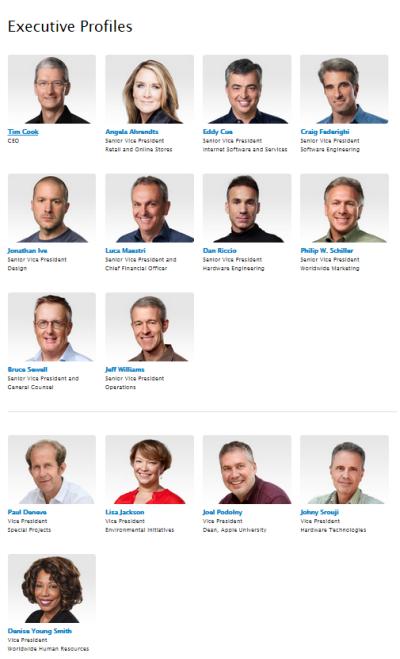 2014 AAPL executive team