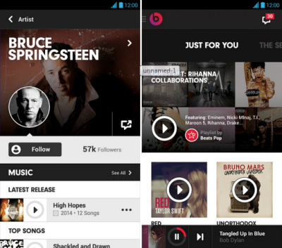 Android Beats music