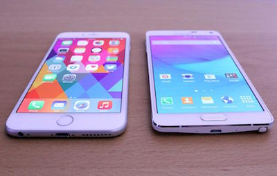 Samsung Galaxy Note Edge VS Apple iPhone 6 Plus 2