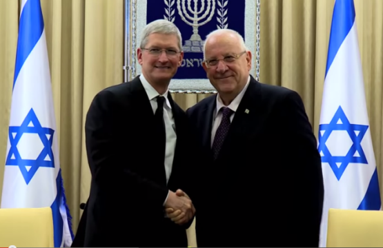 Tim Cook and Rubi Rivlin