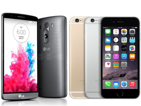 iPhone 6 and LG G3