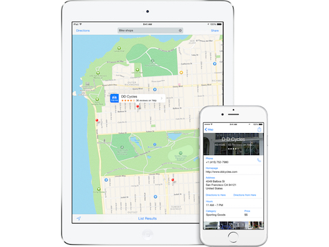 iOS 8 local search