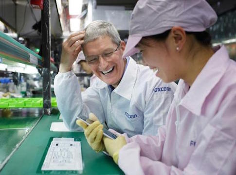 Tim Cook at Foxconn