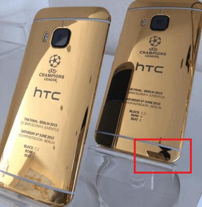 HTC Gold via iPhone