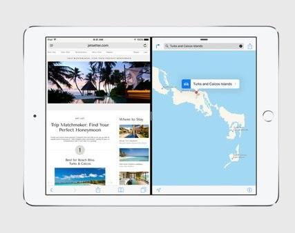 iOS 9 iPad split screen