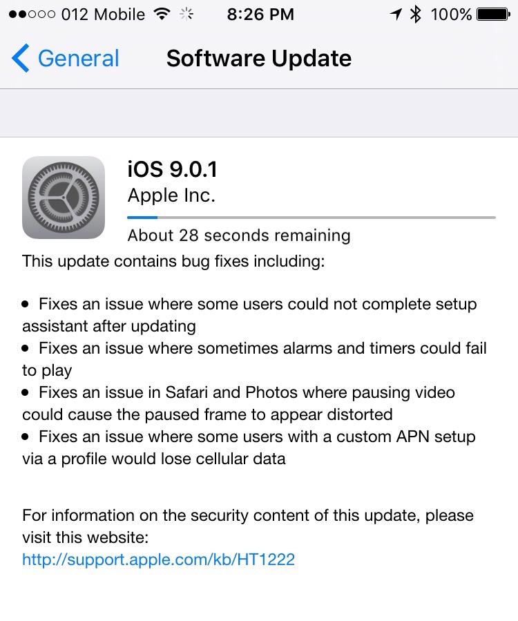 iOS 901 notes