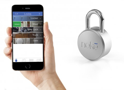 Noke-Bluetooth-Smart-padlock-employs-Nordic-Semiconductor-technology-to-eliminate-keys-or-combinations-and-enable-operation-from-smartphone