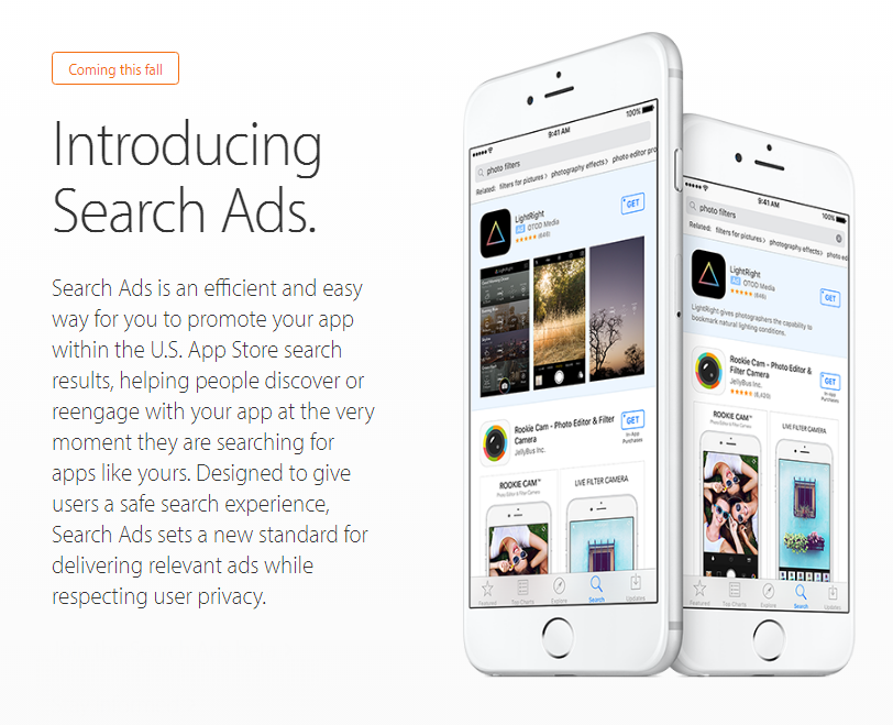 Appstore ads